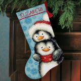 Hugging Penguins Stocking