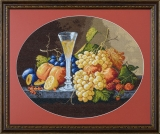 Still life with fruits and wine glass
