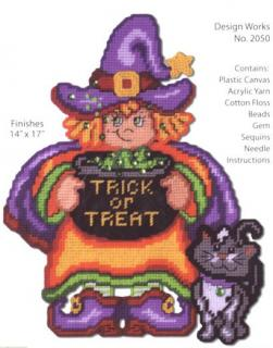 Trick or Treat Witch Wall Decor
