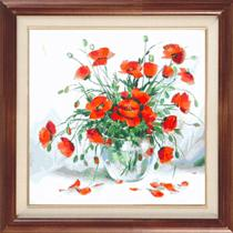 Vase with poppies