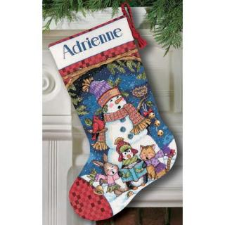 Cute Carolers Stocking
