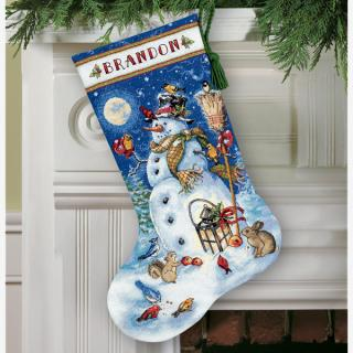 Snowman & Friends Stocking