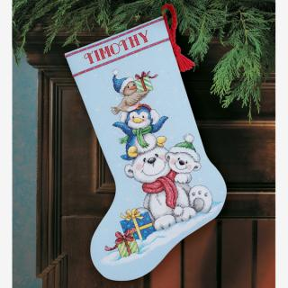 Stack of Critters Stocking