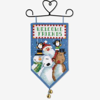 Santa & Friends Mini Banner